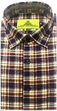STC Men's Multicolor Woolen Checkered Cottswool Winter Wear Full Sleeves Regular Fit Formal Shirt 0122
