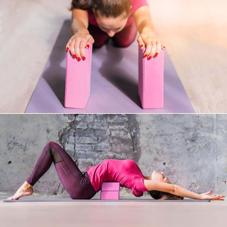 22/x 15/x 4/cm/ Juego de 2 /El Accesorio vers/átil Yoga facilita la ejecuci/ón con m/últiples Ejercicios High Pulse/® Yoga Bloque de Corcho