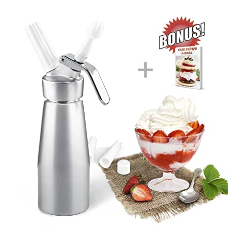 Amazon Zoemo Professional Whipped Cream Dispenser 250ml Cream
