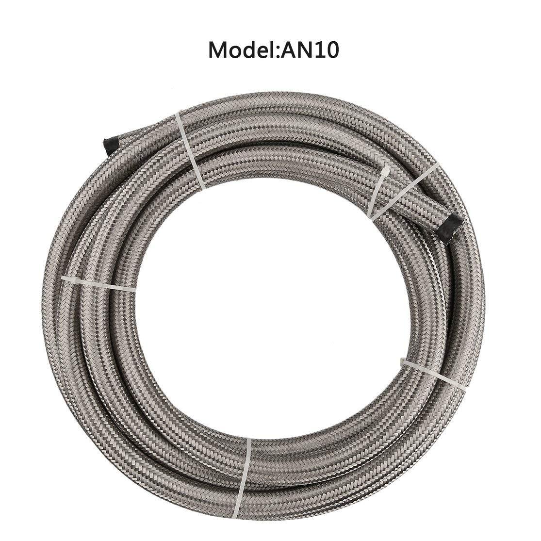 AN8 AN10 Universal Flexible 1 Metro Manguera de Combustible Trenzada de Nylon Durable Resistente al Calor Seguro y confiable Candyboom AN4 AN6
