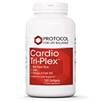 Protocol For Life Balance - Cardio Tri-Plex - CoQ10 and Omega-3 Rich Fish Oil for Cardiovascular Support, Cognitive (Brain) Function, Healthy Heart - 120 Softgels