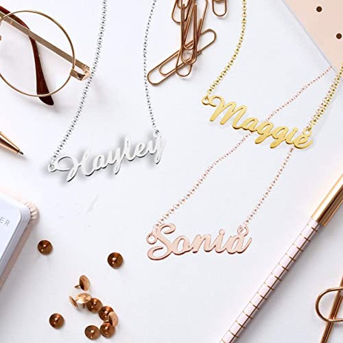 EV.YI Jewels Monica Name Necklace Stainless Steel Plated