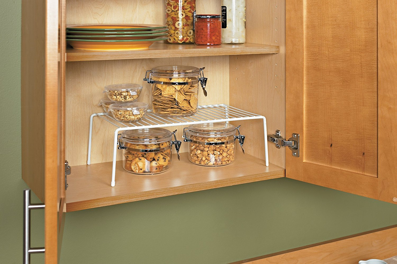 Buy Indian Decor Kitchen Organizer 4114 Cabinet Shelf Kitchen Storage Solution Cabinet Organizer Cupboard Organizer White Online At Low Prices In India Amazon In