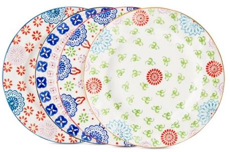 Boho Boutique™ Floral Ceramic Salad Plate Set of 4 : Target