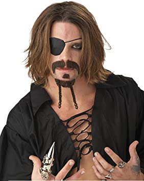 Rogue Pirate Moustache and Chin Patch Jack Sparrow Fancy Dress ...