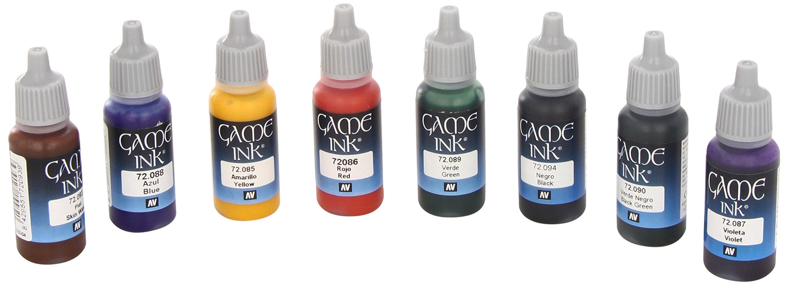 Vallejo Game Ink Paint Set (8 Color) Paint