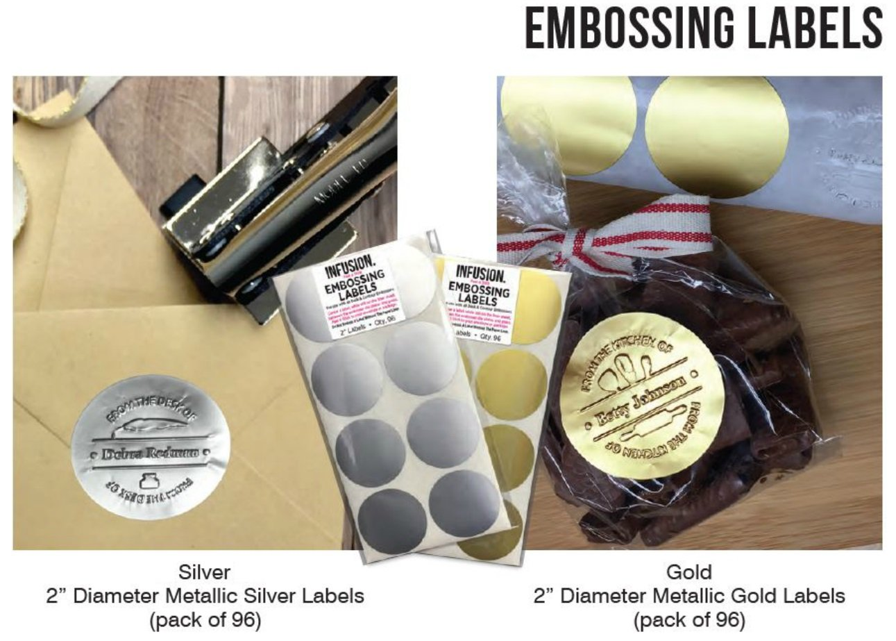 Infusion Custom Happy Birthday Logo Desk Embosser Seal - 1.675'' Round Personalized Paper Embosser by Shiny (Image #4)