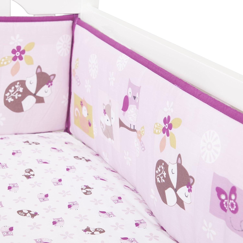 Bedtime Originals Lavender Woods Bumper Lambs & Ivy 233002B