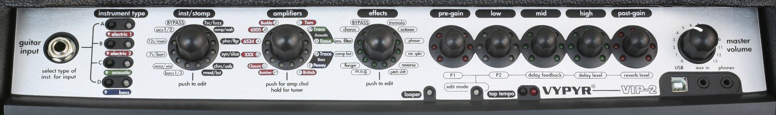 Peavey Vypyr VIP 2 - 40 Watt Modeling Instrument Amplifier by Peavey