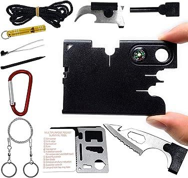 Multi-Function Survival Card Tool Outdoor Life-Saving Portable Tool C