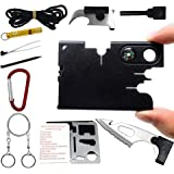SYLC 12 In 1 Credit Card Wallet Multi-Tool Outdoor Rescue Card Tool Exquisite Gift Set Suitable For Portable (A)