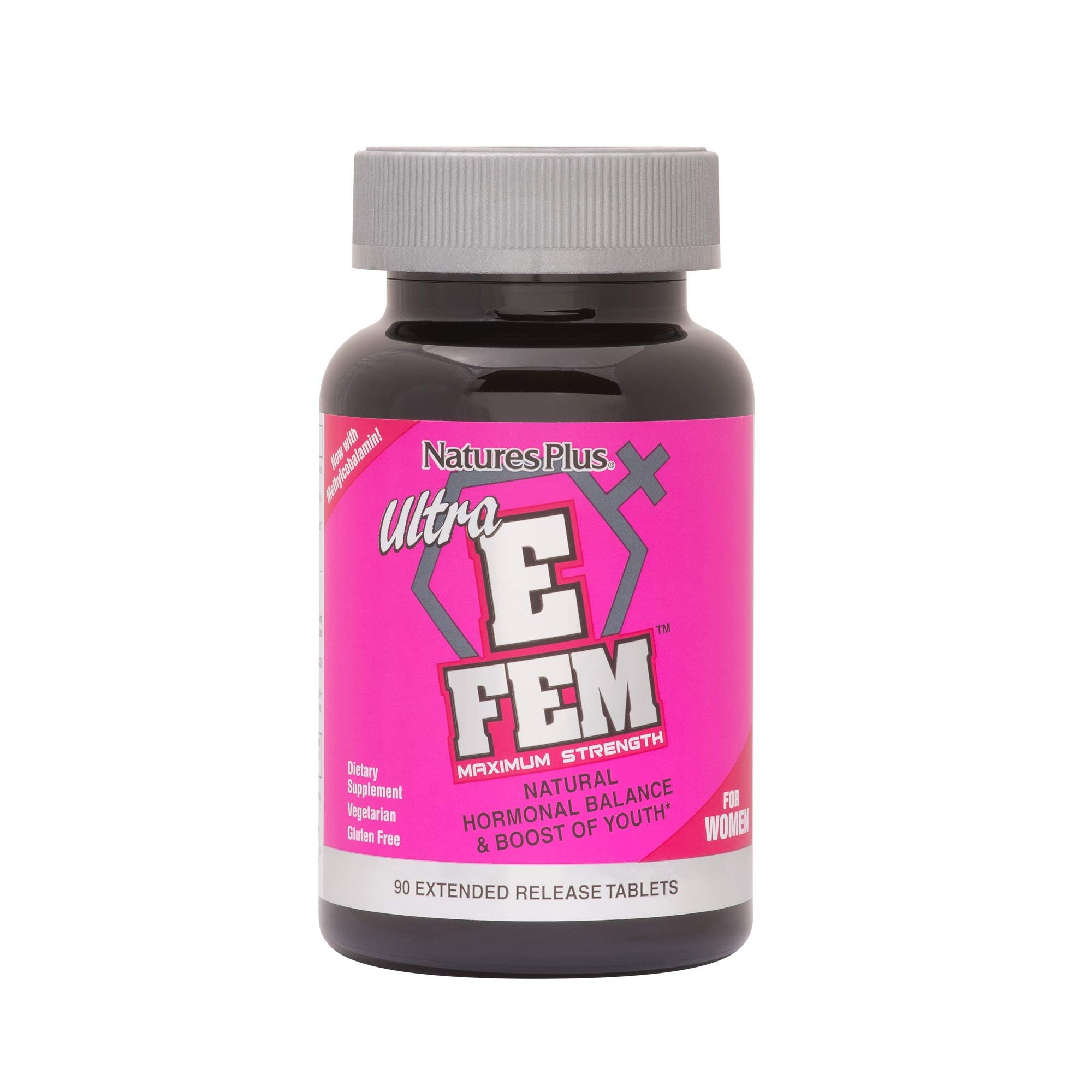 Nature's Plus - Ultra E-FEM Extended Release Tablets, Boost of youth, 90 Ct