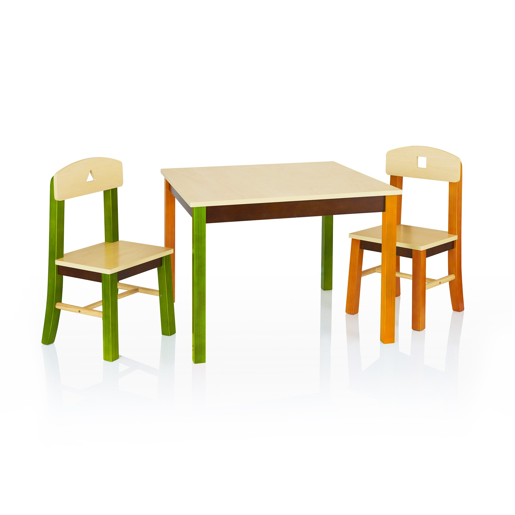 Guidecraft See and Store Table and Chair Set - Kids Furniture, Children's Study Activity Table by Guidecraft (Image #1)