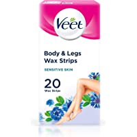 Veet Wax Strips with Easy Grip, Sensitive Skin, 20ct