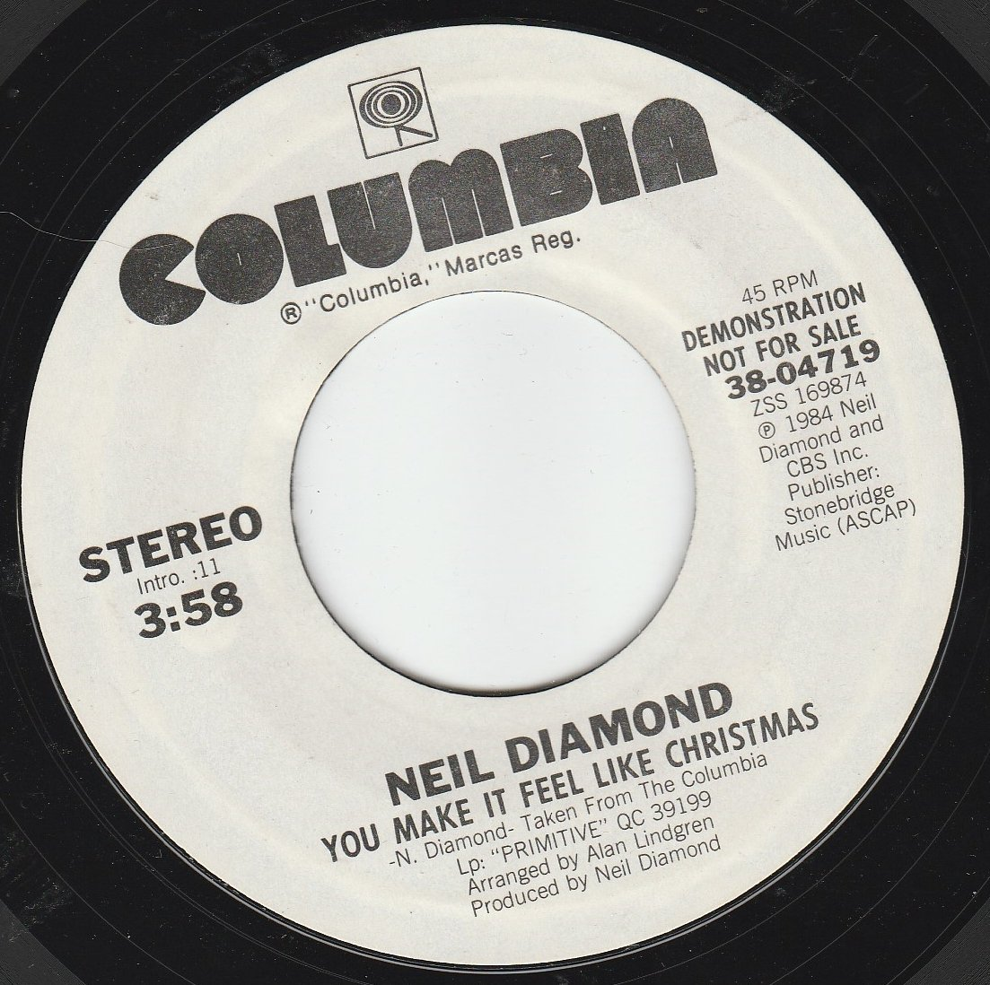 Neil Diamond - 45vinylrecord You Make It Feel Like Christmas (7\