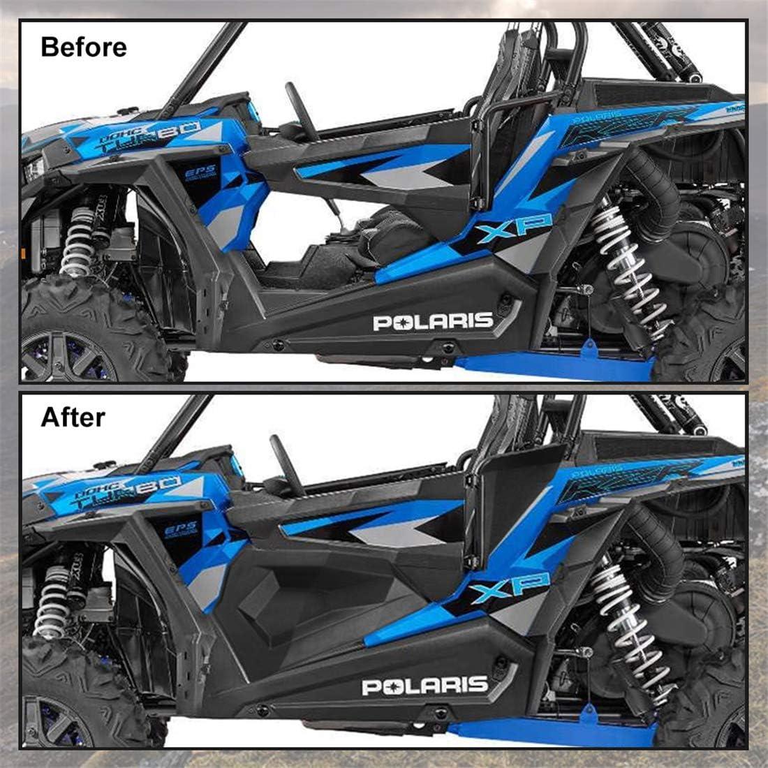 KIWI MASTER Lower Half Door Inserts Panels Compatible for 2014-2020 Polaris RZR XP 1000 900 S Turbo EPS 2 Door 60 inch Models Black 2879509