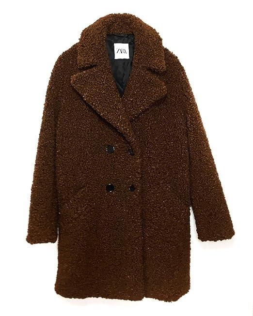 hot sale online 3e535 c48f0 Zara Donna Cappotto Pelliccia Sintetica 4360/042: Amazon.it ...