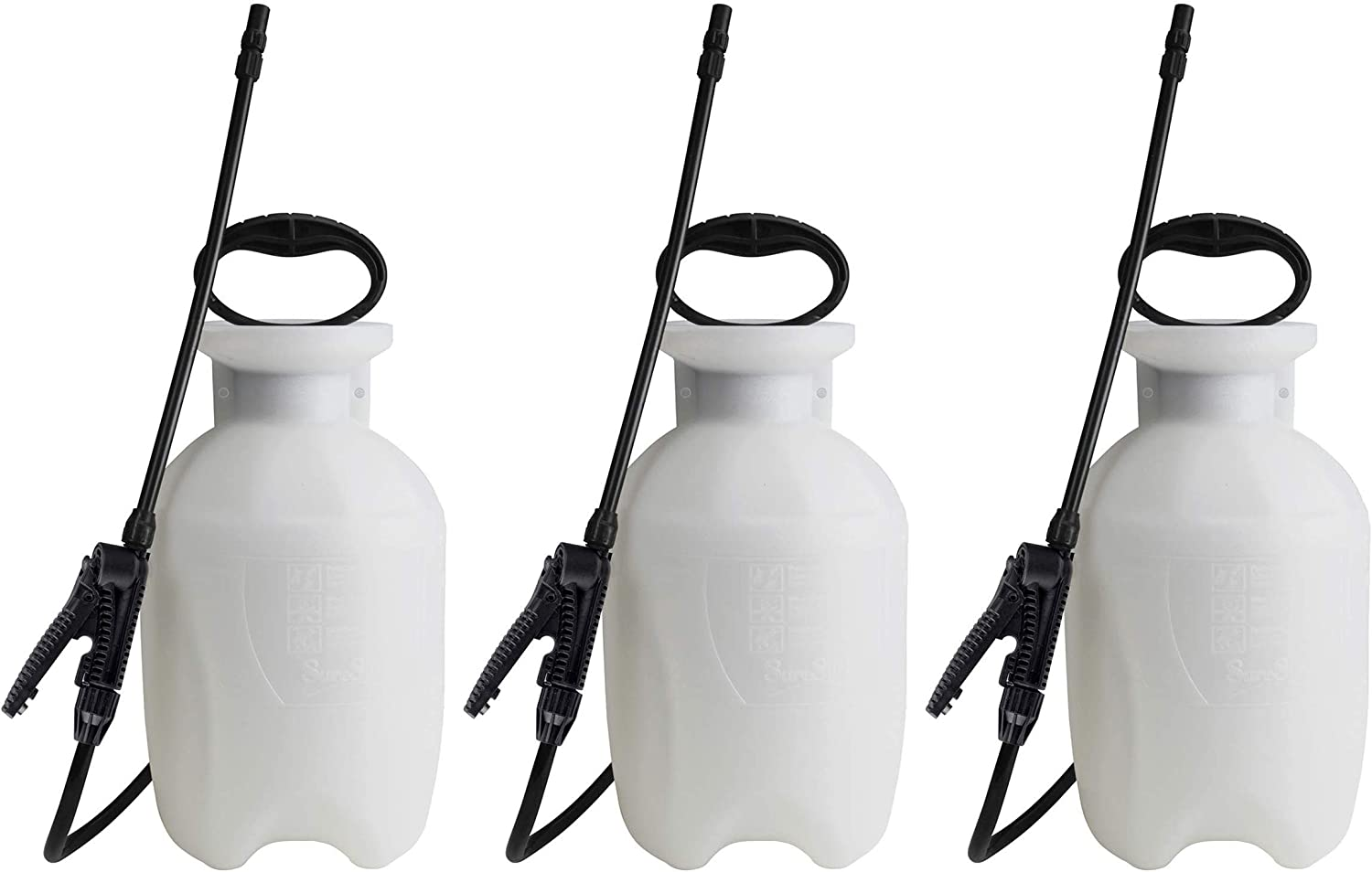 Chapin 20000, 1 Gallon Lawn, Garden and Multi-Purpose Sprayer with Adjustable Nozzle, Translucent White, 3 Pack