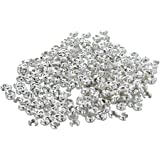 """TOOGOO(R) 300 Silver Plated Metal Knot Crimp Covers Beads 0.16"""" HOT"""