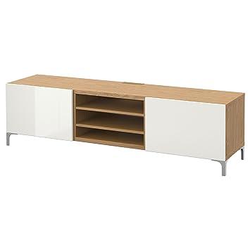 Ikea Besta Tv Bank Mit Schubladen Eiche Effekt Amazon De Elektronik