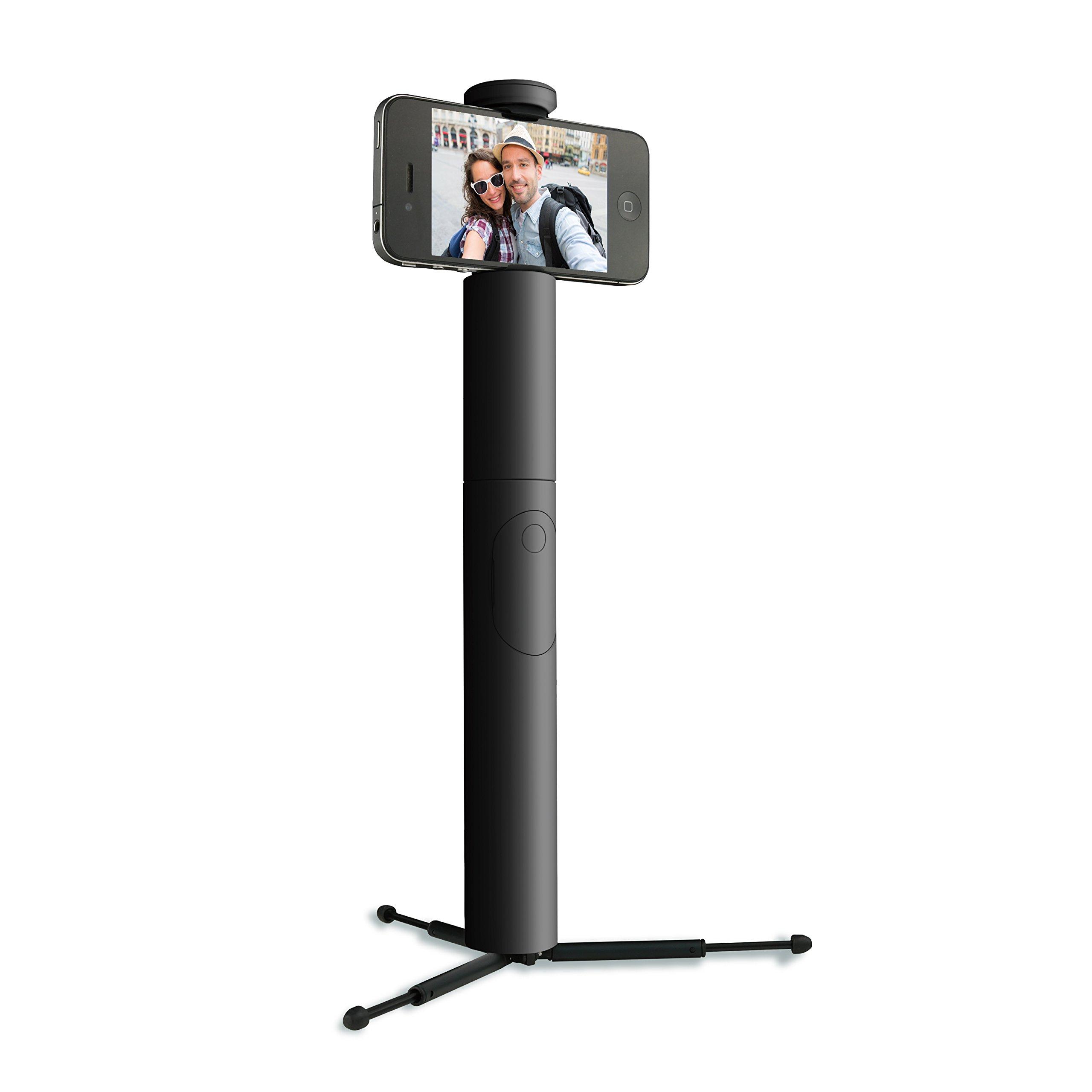 34mm Selfie Stick w Remote Blk