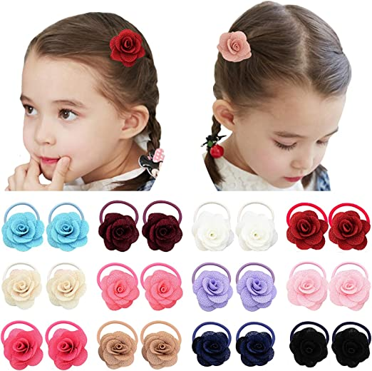 SALE Girls Hair Bow Bobbles Sold In Pairs Handmade
