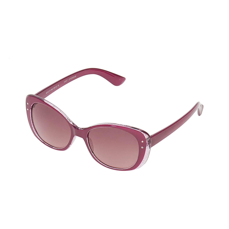 Vast UV Protection Cat Eye Women Sunglasses (9919C3Purple|53|Grey Lens)