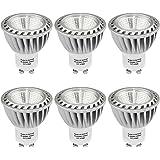 SHINE HAI Lampadine LED GU10 6W,Pari a Lampada Alogena da 50w,480LM,Bianco Caldo 2700k,200-240V,Confezione da 6 Faretti LED