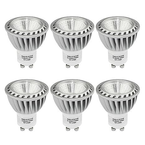 SHINE HAI Bombillas LED Gu10 Lámparas Halógenas Equivalentes a 50W, Blanco cálido 2700K, 480LM