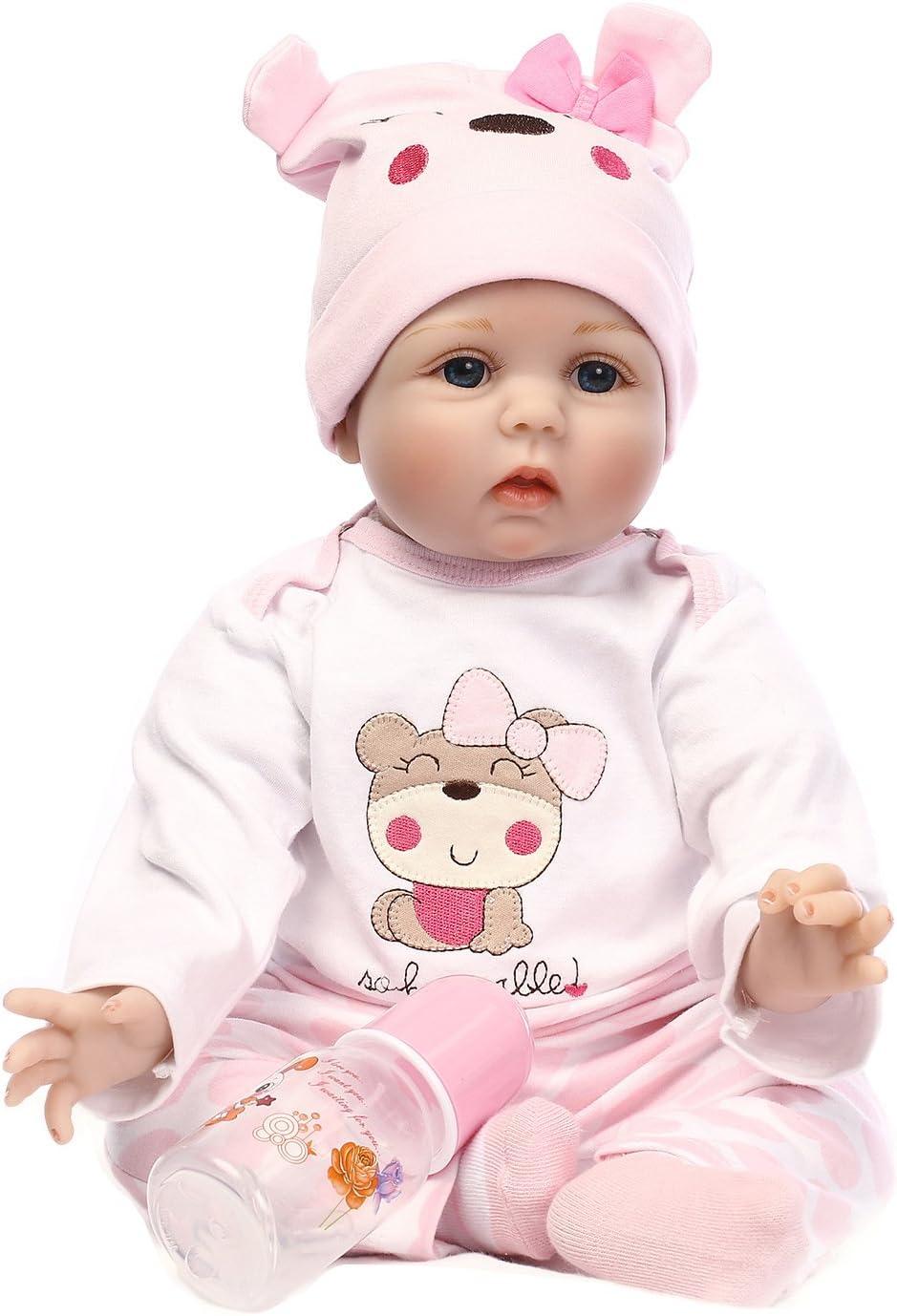 Secret Castle ピンクのスーツと赤ちゃんの人形のリアルな人形生まれ変わるユニセックスの赤ちゃんのブランケット55 cmのシミュレーション