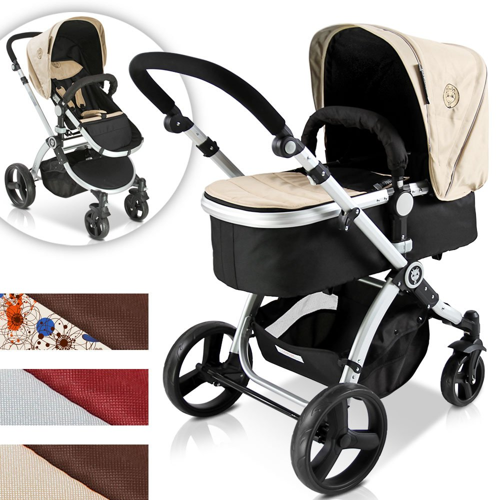 Infantastic Baby Child Pushchair Pram / Stroller 2in1 with Carry Cot