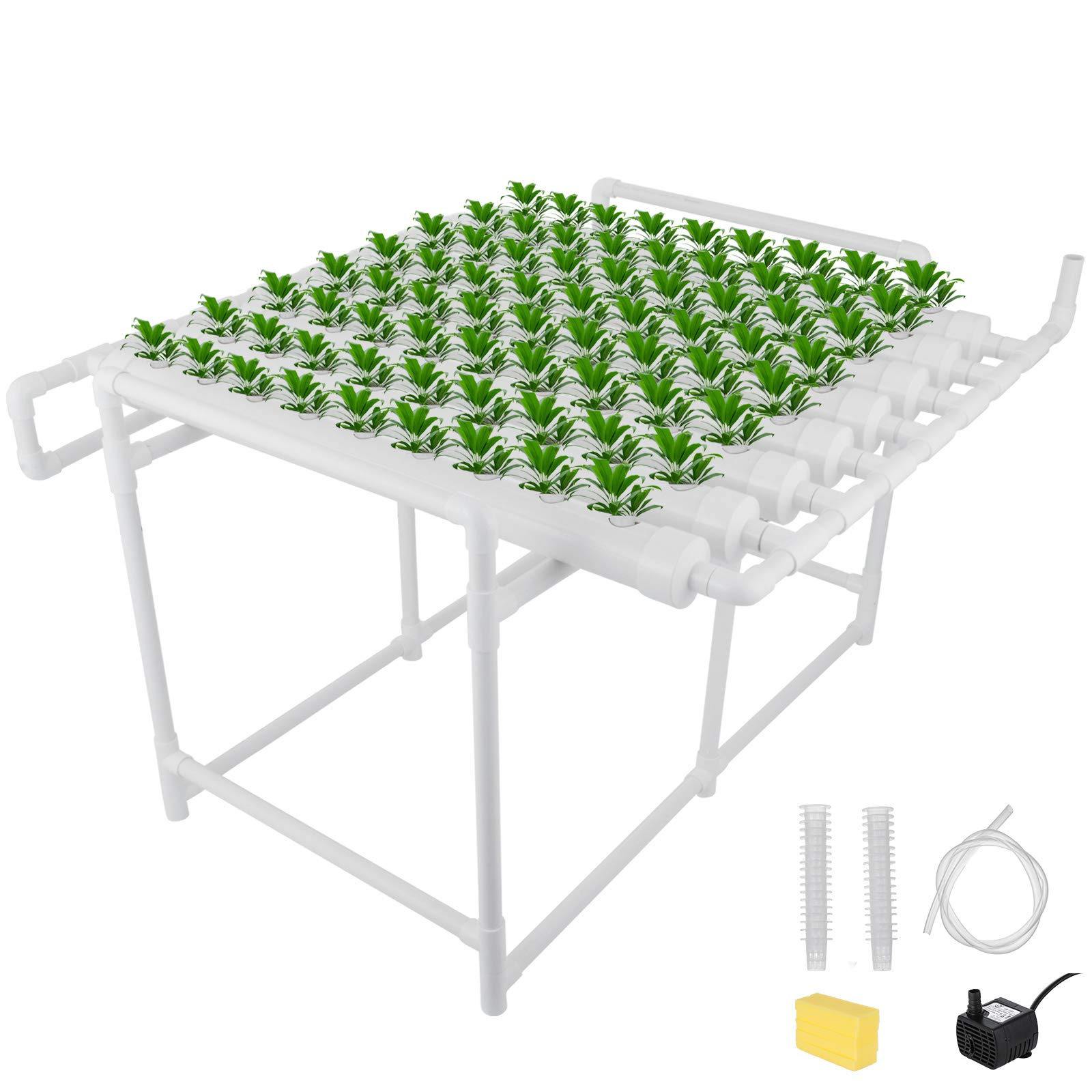 DreamJoy Hydroponic Grow Kit 72 Sites 8 Pipe NFT PVC Hydroponic Pipe Home Balcony Garden Grow Kit Hydroponic Soilless Plant Growing Systems Vegetable Planting Grow Kit (72Site 8Pipe) by DreamJoy