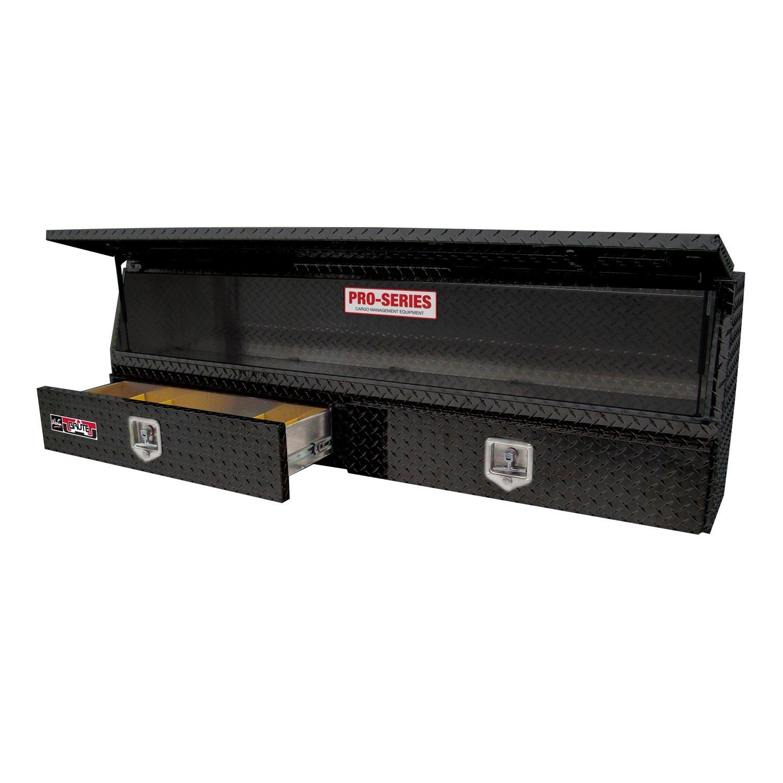 Brute 80-TBS200-48-BD-B Pro Series 48'' Contractor TopSider Black Powder Coat Aluminum Tool Box with Doors & Drawers