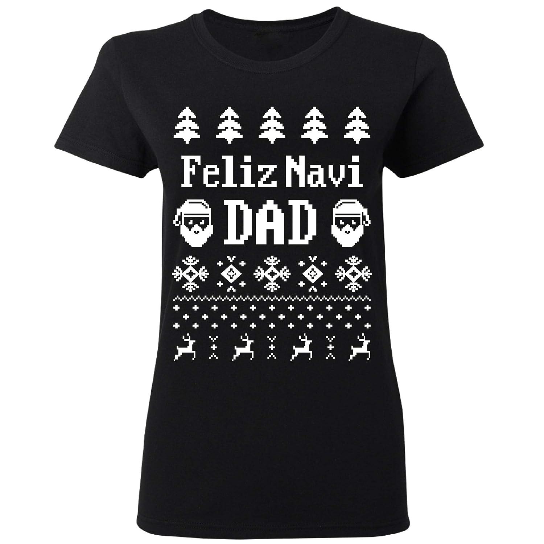 Feliz Navidad Merry Christmas Putos Mexico Xmas Ugly Women T-Shirt