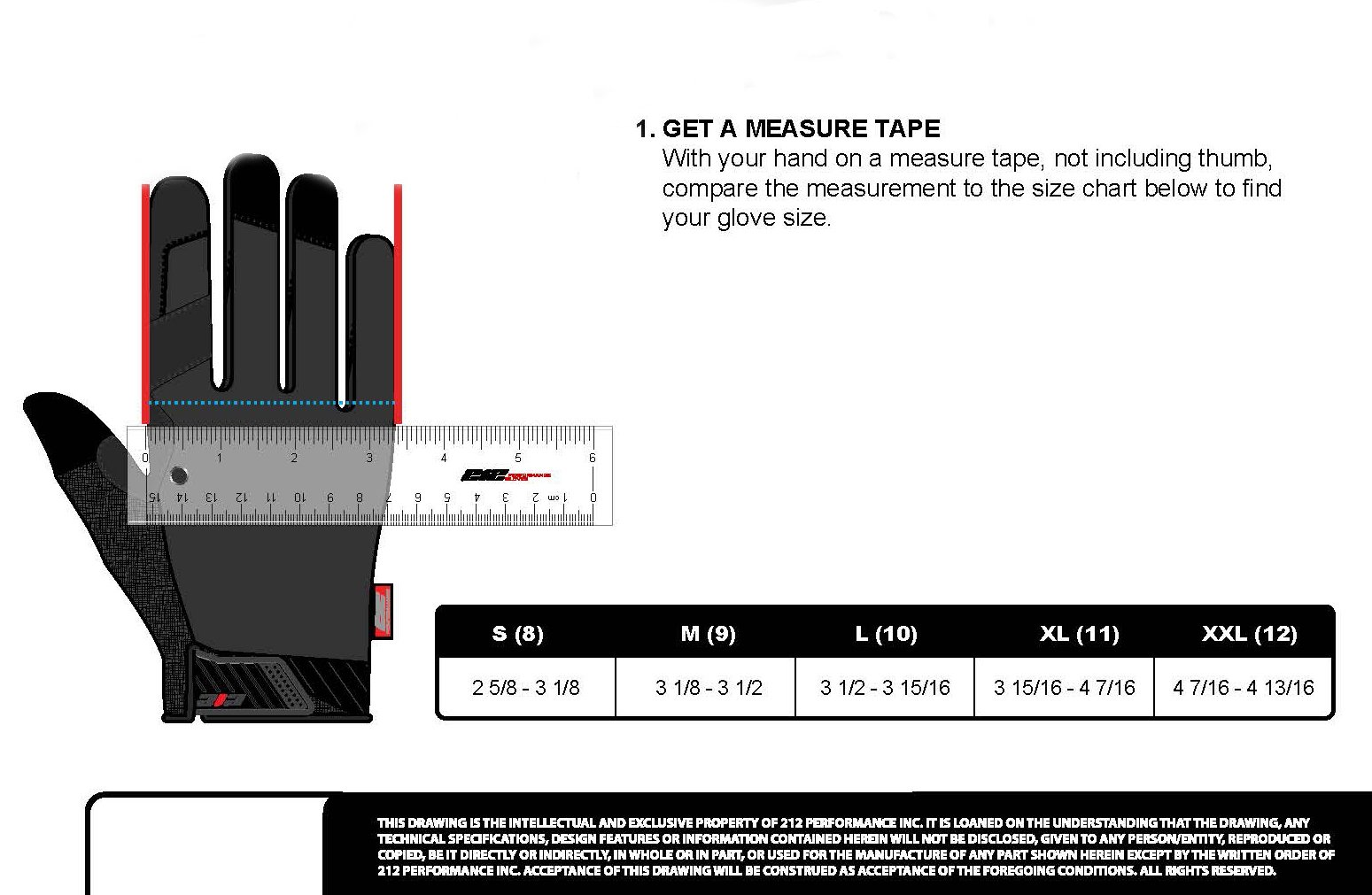 212 Performance Gloves IMP-88-009 Super Hi-Vis Impact Gloves, Medium by 212 Performance Gloves (Image #7)