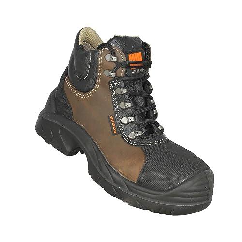 design intemporel b5a20 b563e Ergos Tibet S3 SRC Chaussures de sécurité Trekking Chaussures Haute Braun  B-Stock