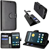 """Alcatel Pixi 3 (3.5) mobile phone case cover luxury PU lather magnetic book flip Wallet case for Alcatel Pixi 3 3.5"""" Alcatel Pixi 3 3.5 inch (Black book)"""
