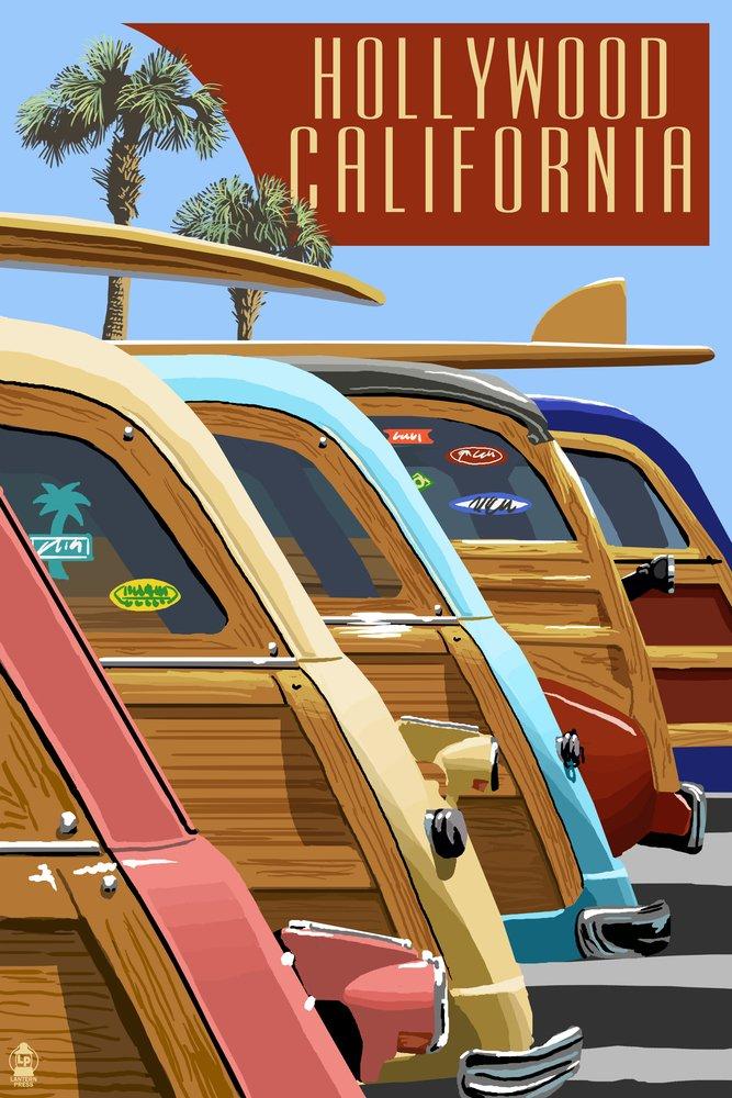 【初回限定】 Hollywood , California 18 – , Woodies Lined Lined Up 12 x 18 Metal Sign LANT-46129-12x18M B00N5CEN44 12 x 18 Art Print 12 x 18 Art Print, くらしの収納館:35ba7ac9 --- 4x4.lt