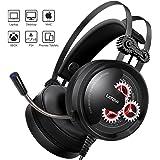 Gaming Headset, LATOW Stereo Over Ear Gaming Kopfhörer LED Beleuchtete Surround Sound 50mm Treiber Zahnrad mit Mikrofon für PS4 / Xbox One / Pad / PC / Laptop / Handy, Geeignet für Alle Altersgruppen