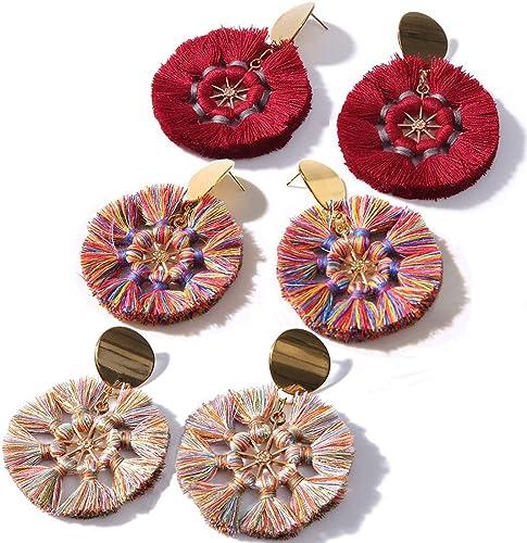 Tassel Earrings Women jewelry bohemian Vintage Dangle Earrings Accessories