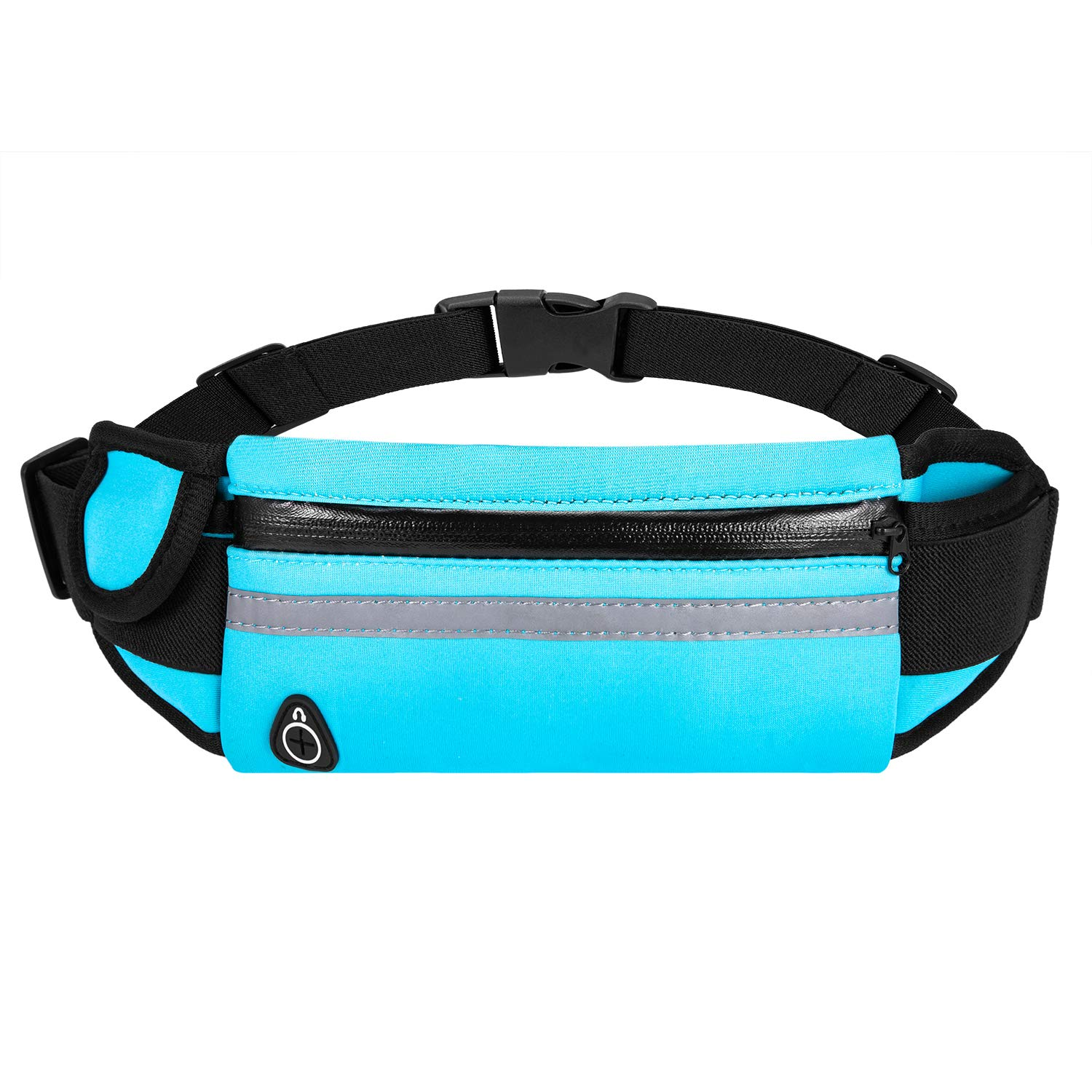 Bounce Free Pouch Bag, Fanny Pack Workout Belt Sports Waist Pack Belt Pouch for Apple iPhone XR XS 8 X 7 Samsung Note Galaxy in Running Walking Cycling Gym