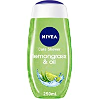 NIVEA Lemongrass & Oil Shower Gel, Caring Oil Pearls, Lemongrass Scent, 250ml