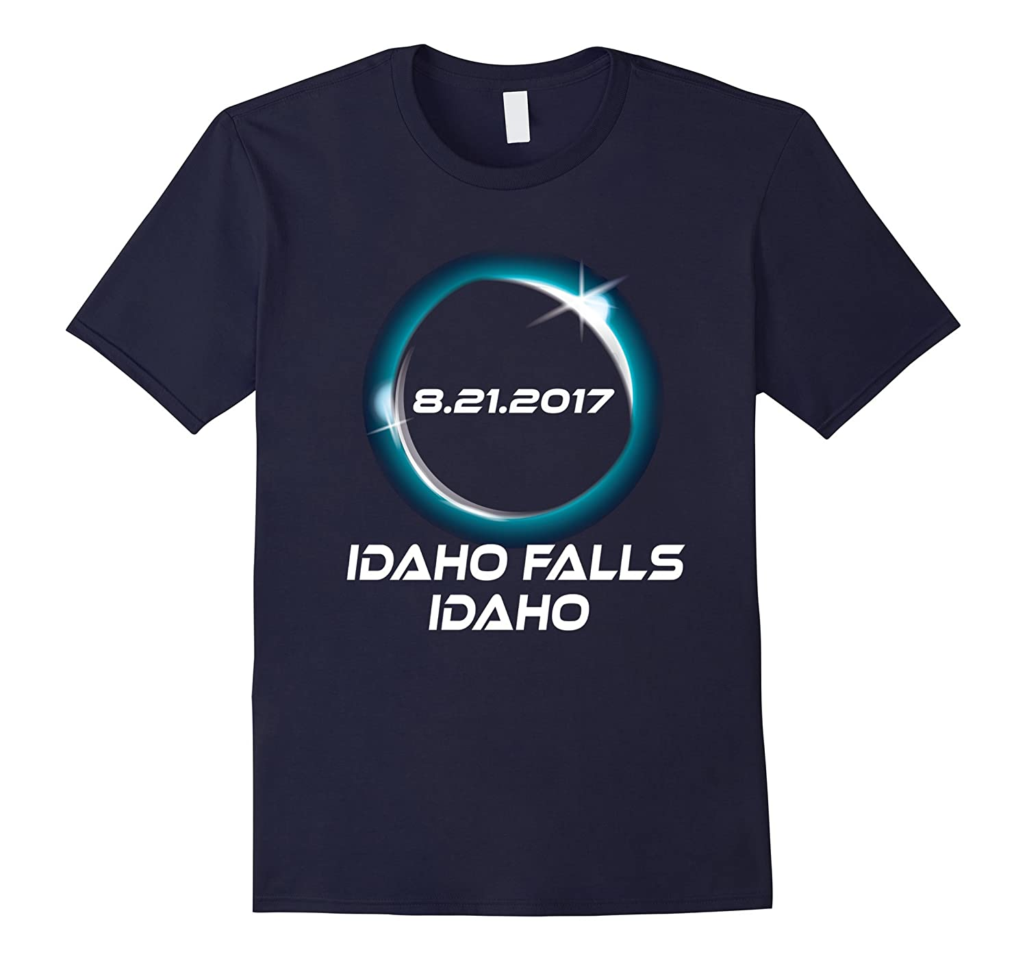 Total Eclipse August 21st Idaho Falls, Idaho T Shirt-Art