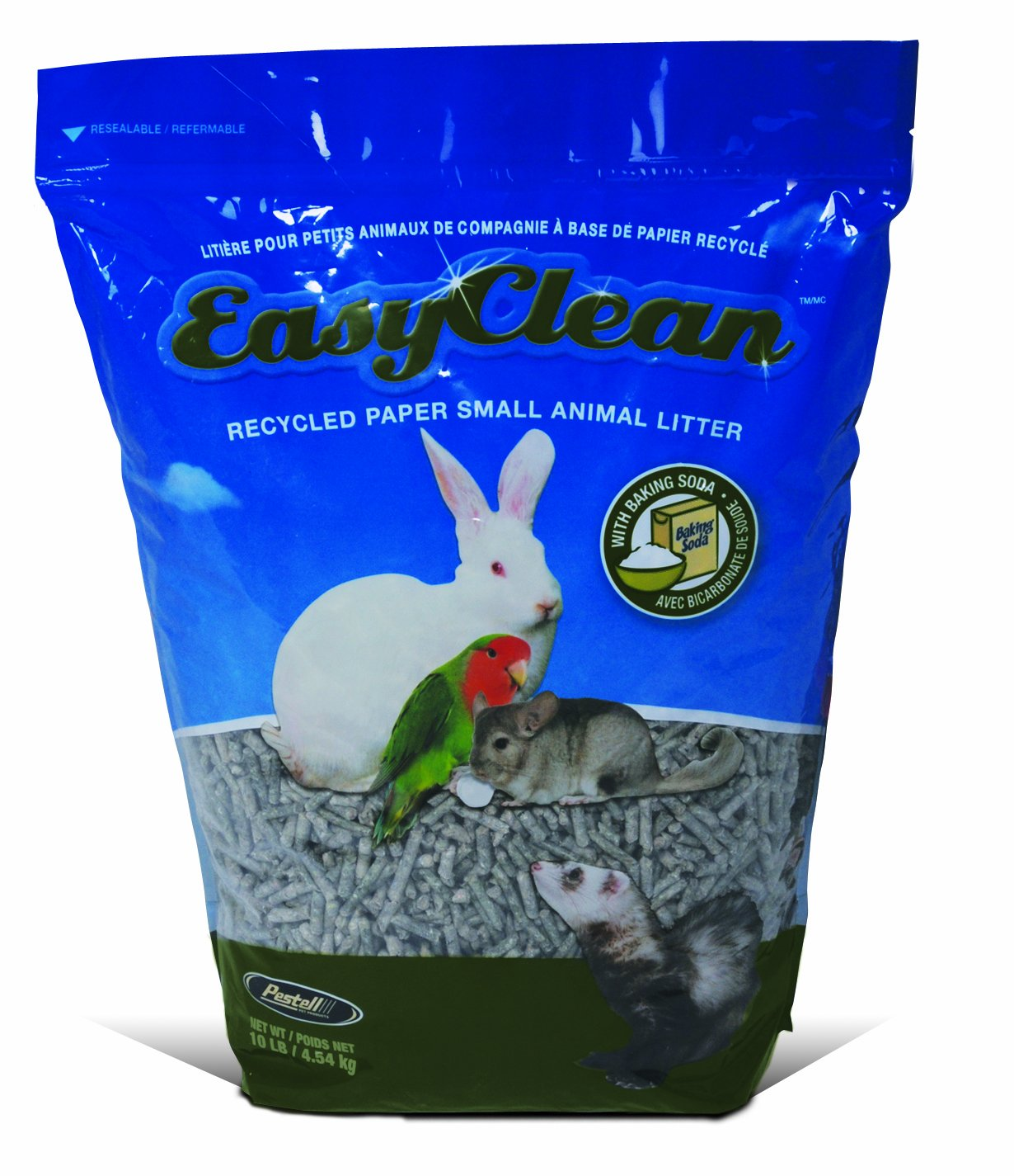 Easy Clean Paper Pellet Small Animal Litter Bag, 10-Pound