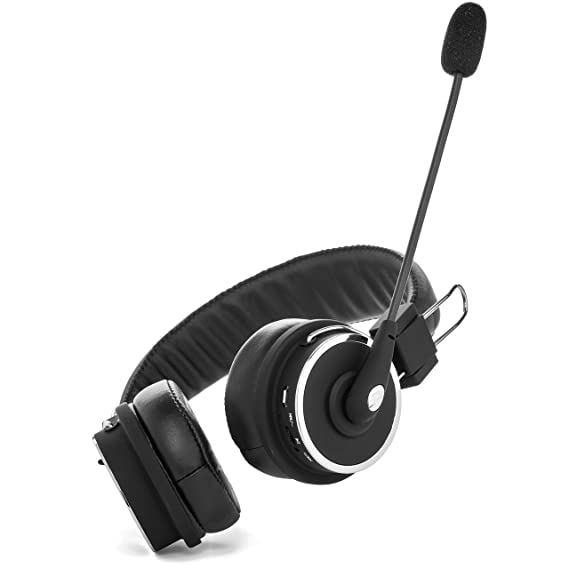 95d1db21ae3 Amazon.com: Blue Tiger Dual Elite Wireless Bluetooth Headset - Premium  Noise Cancelling Headphones with No Wires - Ideal Driving, Gaming and Music  ...