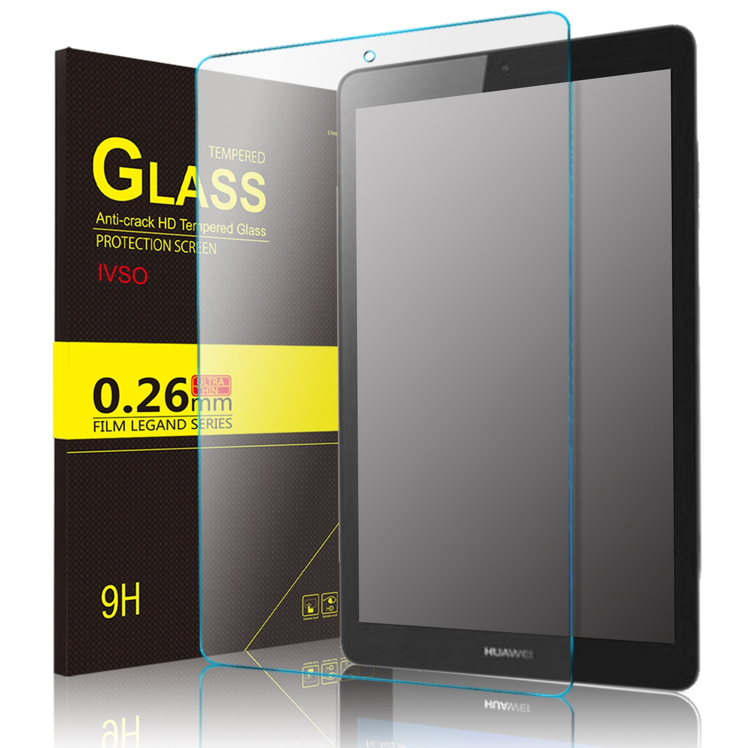 IVSO Samsung Galaxy TAB A 8.0 2018 T387 Screen Protector, [Scratch-Resistant] [No-Bubble ] 9H Hardness HD Clear Tempered Glass Screen Protector for Samsung Galaxy TAB A 8.0 2018 T387 Tablet (2 Pack)