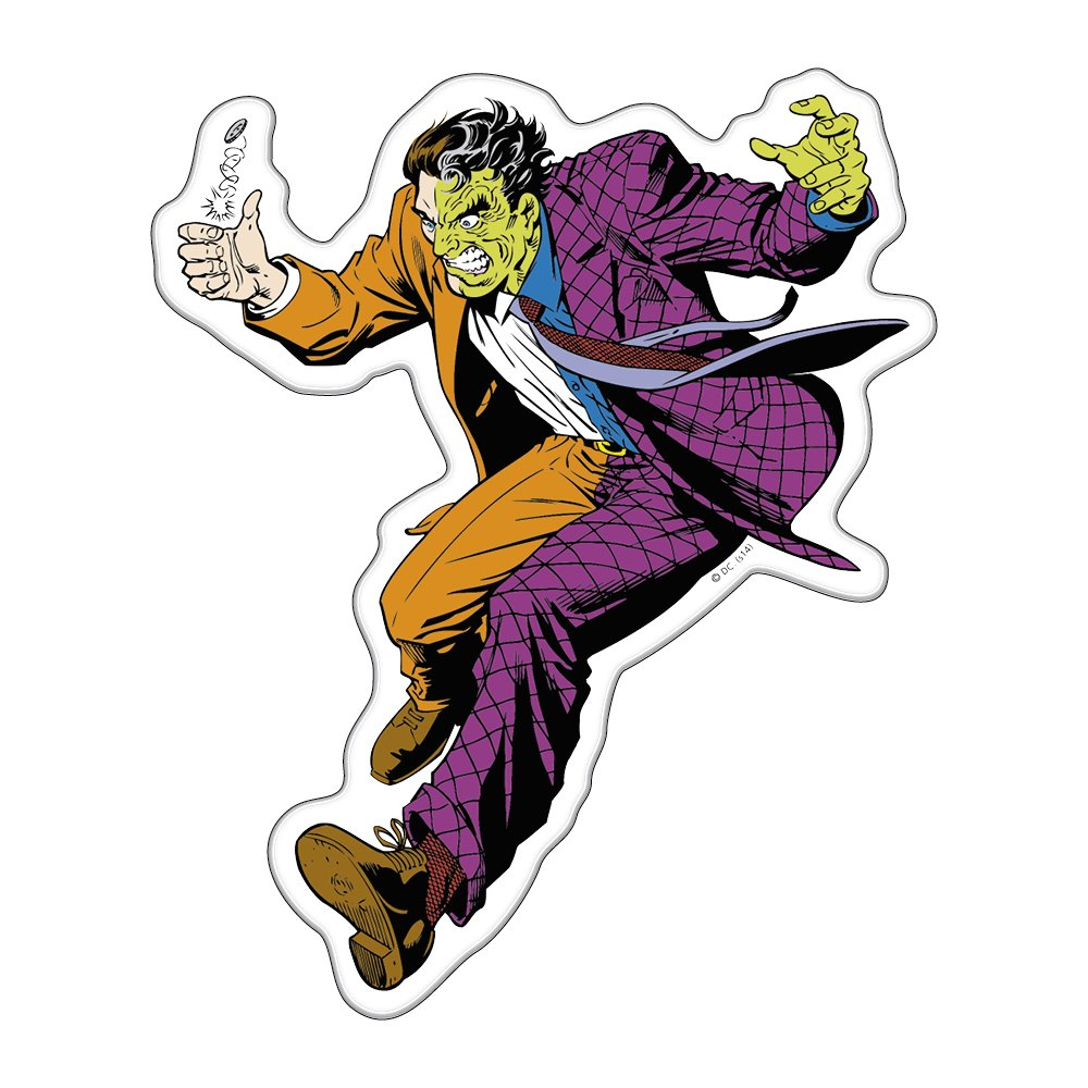DC Comics Automotive Emblem Sticker Applies Easily to Cars Laptops Motorcycles Windows Almost Anything Fan Emblems Two Face Batman Character Car Decal Domed//Multicolor//Clear Trucks