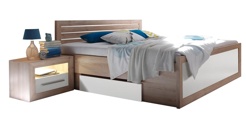 Stella Trading Fernando Bett, Holz, buche / weiß, 206 x 307 x 94 cm