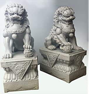 Foo Dogs Statues   Granite Chinese Fu Temple Lions