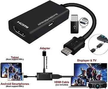 Alician - Cable adaptador tipo C y micro USB macho a HDMI hembra ...